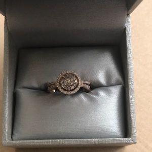 1/2 Carat Rose Gold Champagne Diamond Zales Ring